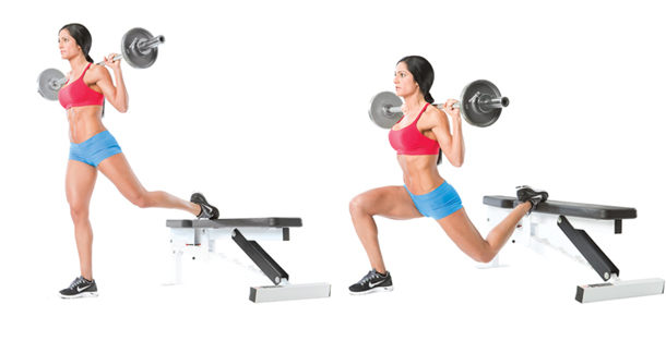 One Leg Barbell Squat Fitness Stars
